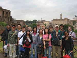 Plan II students with Karl Galinsky in Rome