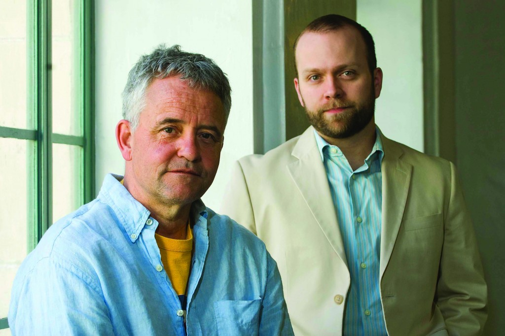 John Rumrich (left) and Cleman Hutchison, English Professors, developed multimedia tools which allow students to hear the poems aloud, but also maintain their connection to the visible world.