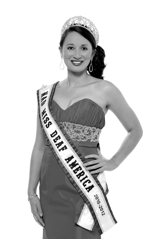 Rachel Mazique, 2010-2012 Miss Deaf America Ambassador. Photo by Vinny Valdez.