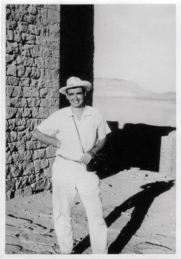 Butzer conducting fieldwork in Philae, Egypt in 1962