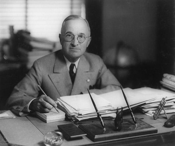 President Harry Truman, circa 1945