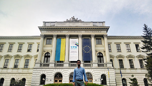 Cantu at the Lviv Polytechnic National University in Ukraine.