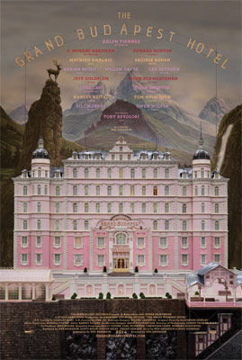 """The Grand Hotel Budapest Hotel"" movie poster."