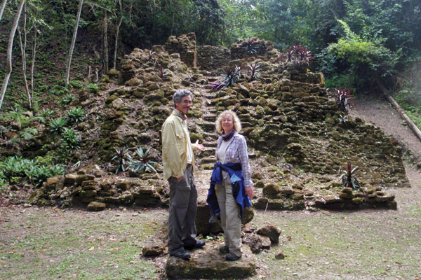 Professors Tim Beach and Sheryl Luzzadder-Beach in the tropical lowlands of Central America.