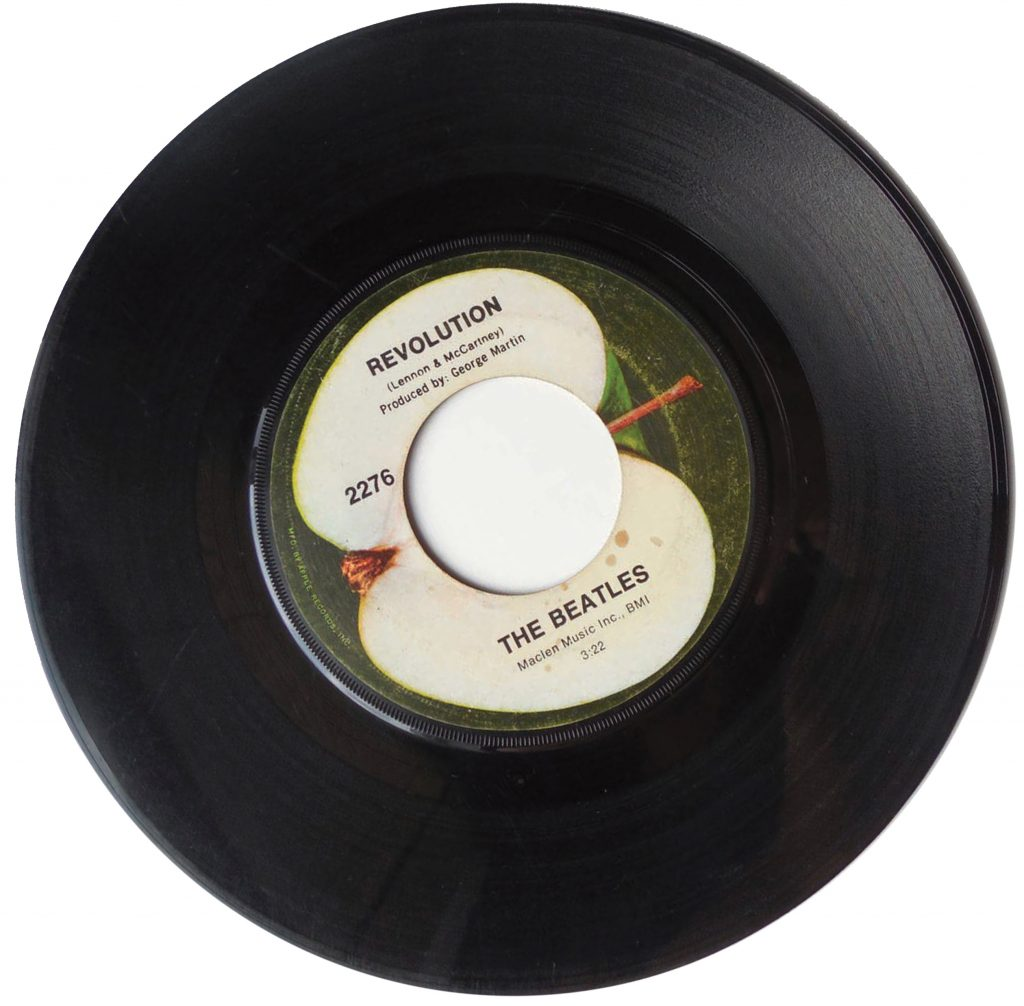 Revolution vinyl single by the Beatles.