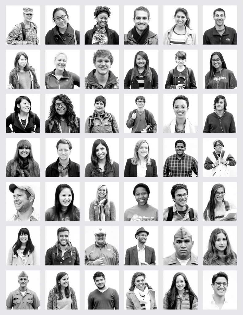 Large collage of student photos.