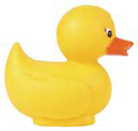a yellow rubber duck