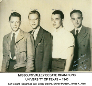 The 1945 UT Debate Team