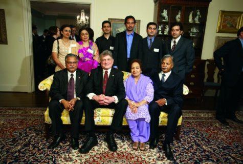 Sitting from left: Iqbal Sheikh, Charlie Wilson, Zahida Shaikh, Zafar Shaikh, Standing from left: Fouzia Shaikh, Azra Malik, Owais Mailk, Mudassir Shaikh, Junaid Malik, and Asad Shaikh.