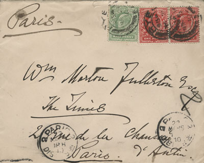 old letter from Paris
