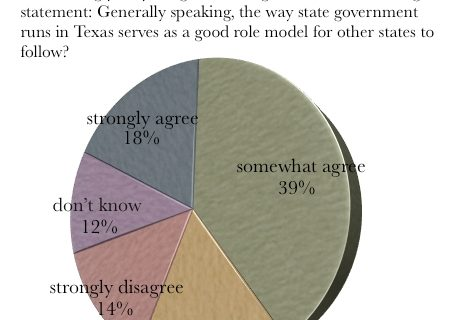 pie graph of Texas as a role model for the economy