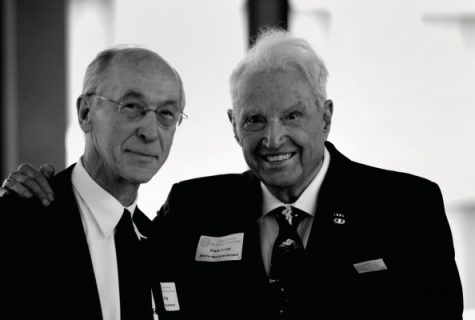 Denius (right) with History Department Chair Alan Tully