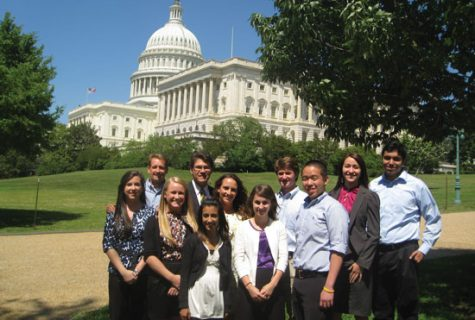 Professor Sean Theriault (second from left) takes students to Washington, D.C. to see the legislative process firsthand