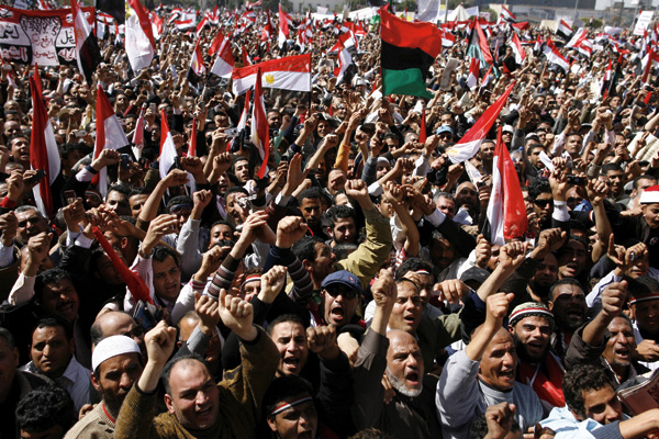 Thousands of Egyptian protesters attend Friday demonstration at the Tahrir Square