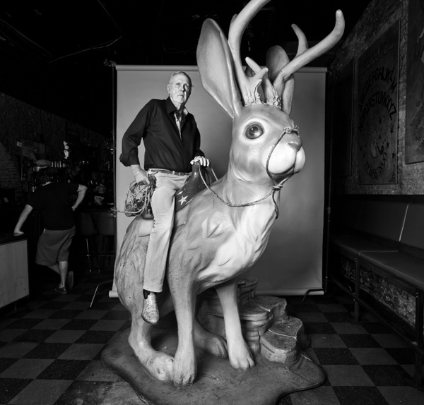 Don Graham with jackalope