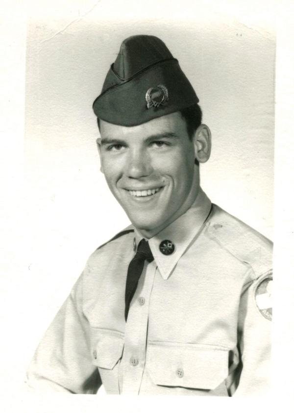 Capt. Hurst's ROTC Distinguished Military Student portrait.