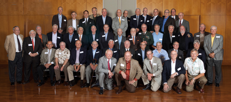 Group photo of Hurst's Beta fraternity brothers and friends. Photo by Brian Birzer.