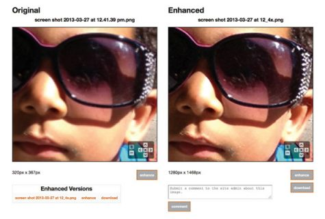Image enhancement example.
