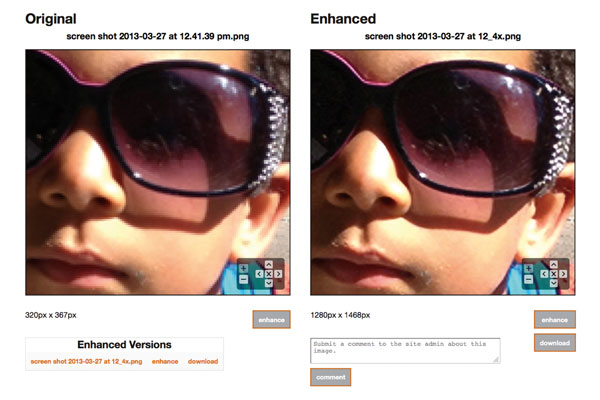 Image enhancement example.