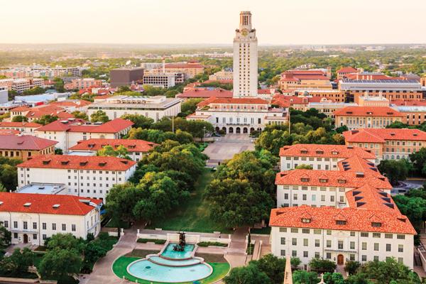 aerial view of UT campus