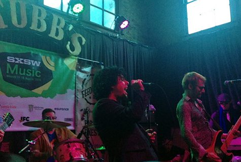 A photo Ridley took of Foxboro Hot Tubs at the Rachel Ray's Feedback party.