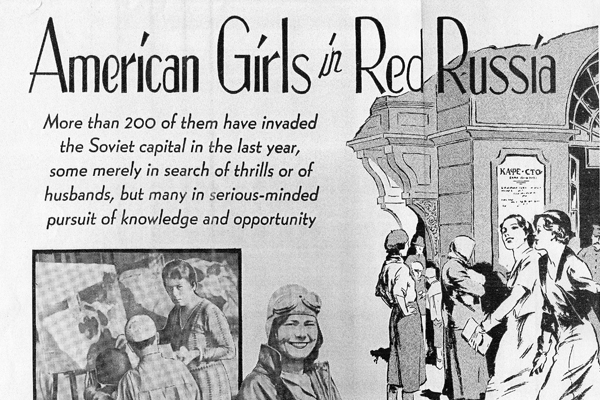 American Girls in Red Russia clipping from EveryWeek Magazine. Image courtesy of Milly Bennett Papers, Hoover Institution