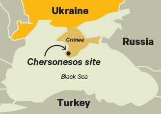 Map of Chersonesos site