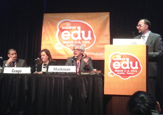 SXSWi Conference edu panel. Photo by Lewis C. Miller.