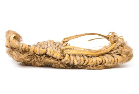 Child's sandal from a West Texas dry shelter site, likely 2,500-3,000 years old, that is housed in the collections at the Texas Archeological Research Laboratory (TARL). Photo: Marsha Miller.