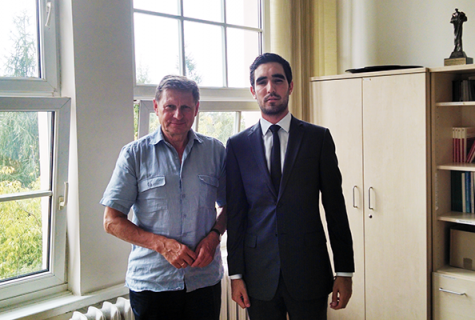 Leszek Balcerowicz and Hector Cantu in Warsaw this summer