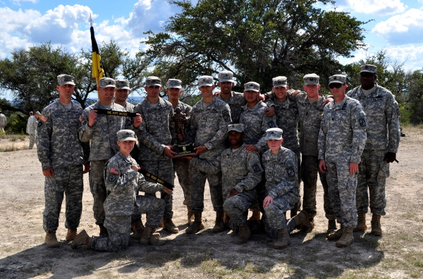 The Brigade Ranger Challenge team with their awards on Nov. 1.
