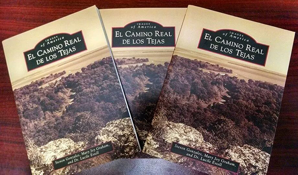The new book published by El Camino Real de los Tejas, which features some of Garza's maps. It is available for purchase on Amazon.