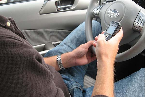 someone texting while driving