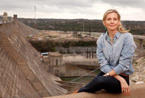 Erika Bsumek at the Mansfield Dam