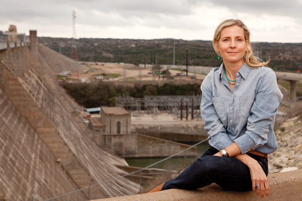 Erika Bsumek at the Mansfield Dam located in Austin, Texas. Photo by Kirk Weddle.