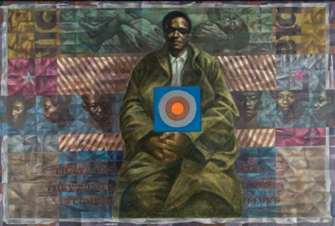 Homage to Sterling Brown, 1972 Oil on canvas, 40 x 59 in. Blanton Museum of Art, The University of Texas at Austin Susan G. and Edmund W. Gordon Family Collection.