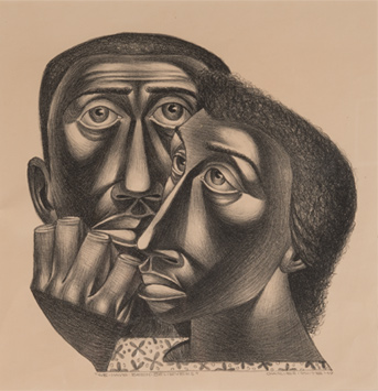 We've Been Believers, 1949 Lithograph, 11 x 10 in. Blanton Museum of Art, The University of Texas at Austin Susan G. and Edmund W. Gordon Family Collection