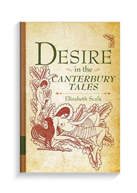 Book cover for Desire in the Canterbury Tales.