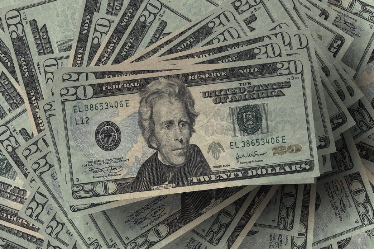 stack of American 20 dollar bills