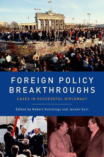 Book cover for Foreign Policy Breakthroughs: Cases in Successful Diplomacy.