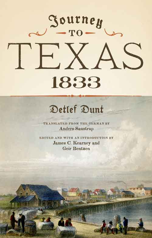 Book cover for Detlef Dunt. Journey to Texas, 1883.