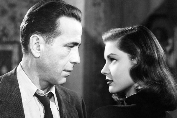 Humphrey Bogart and Lauren Bacall from the 1946 film The Big Sleep.