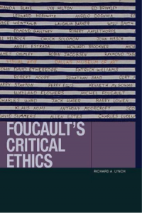 Book cover for Foucault's Critical Ethics.