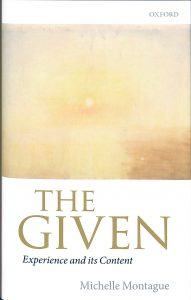 Book cover for The Given: Experience and its Content.