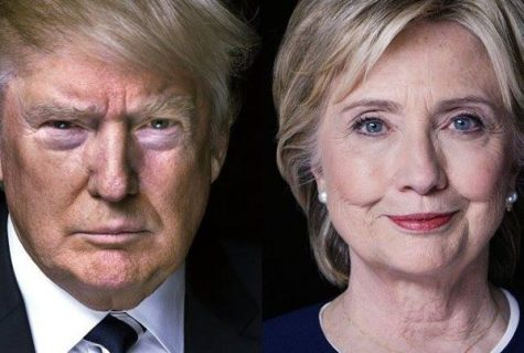 side by side of Trump and Hillary