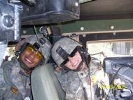 Richards' first deployment to Iraq, 2006.