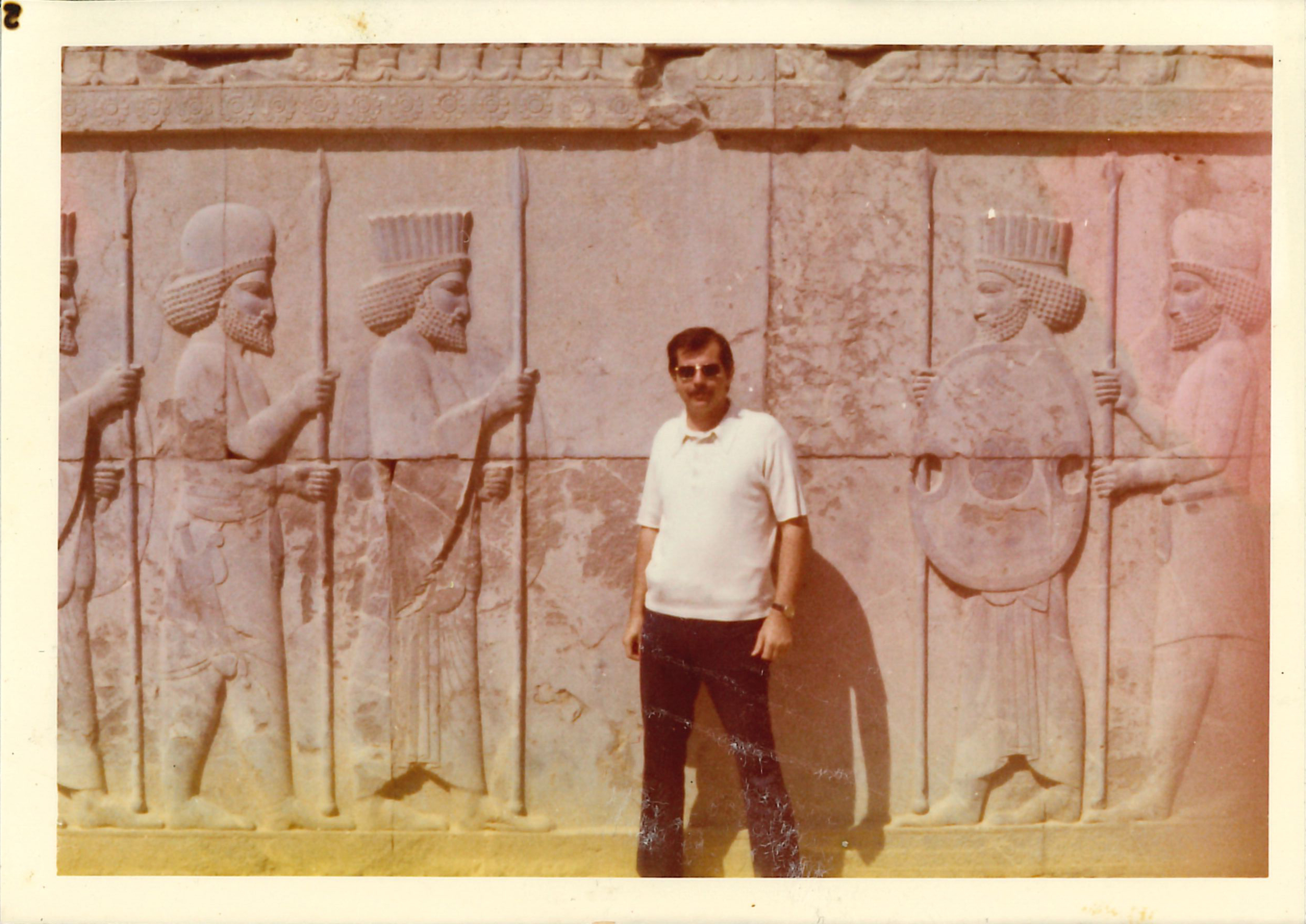 Orr on a visit to Persepolis in Iran.