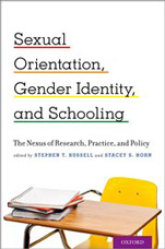 Book cover for Sexual Orientation, Gender Identity, and Schooling: The Nexus of Research, Practice, and Policy.