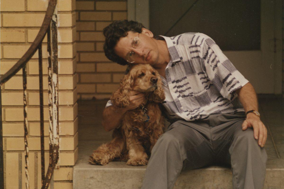 Tom Palaima and his dog, Tater