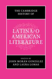 Book cover for The Cambridge History of Latina/o American Literature.